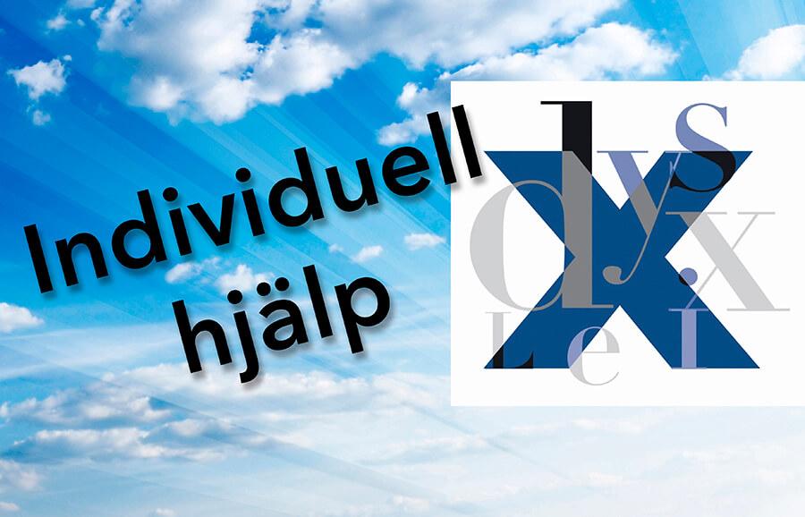 Logga för Individuell hjälp - som innebär att vi har specialutbildad personal med hög kompetens och lång erfarenhet inom Dyslexi, ADHD och andra funktionsnedsättningar.