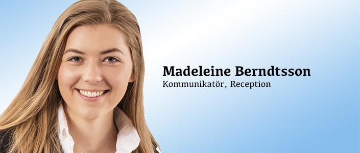 Kommunikatör och receptionist Madeleine Berndtsson